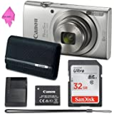 Canon PowerShot ELPH 180 Digital Camera (Silver) with 32GB Memory + CANON PSC-2070 CASE +DIGITALUNIVERSE CLOTH