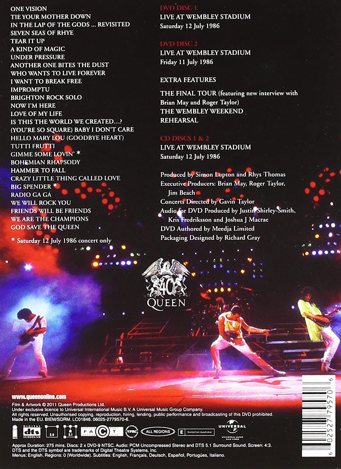 Live at Wembley 25th Anniversary 2DVD+2CD Deluxe Edition 2011: Amazon.co.uk: Queen: DVD & Blu-ray