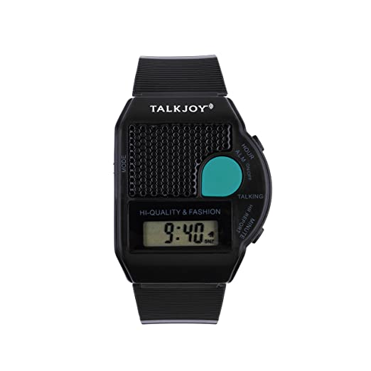 En inglés Talking reloj de pulsera Bling reloj hablando alarma superior las mujeres hombres negro: Amazon.es: Relojes
