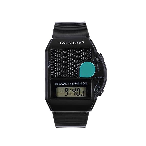 Reloj De En Inglés Pulsera Bling Hablando Talking Alarma bYgfy76v