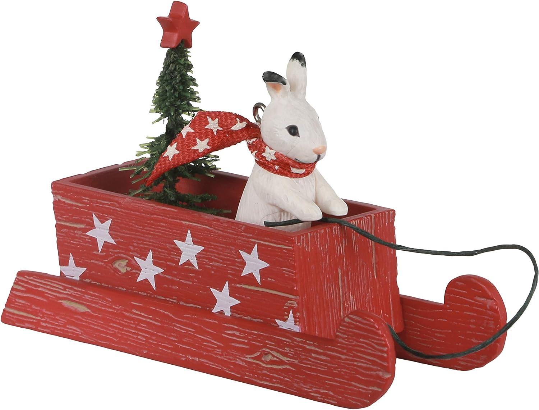 Hallmark Keepsake Christmas Ornament 2020 Marjolein S Garden Sledding Snow Bunny Home Kitchen