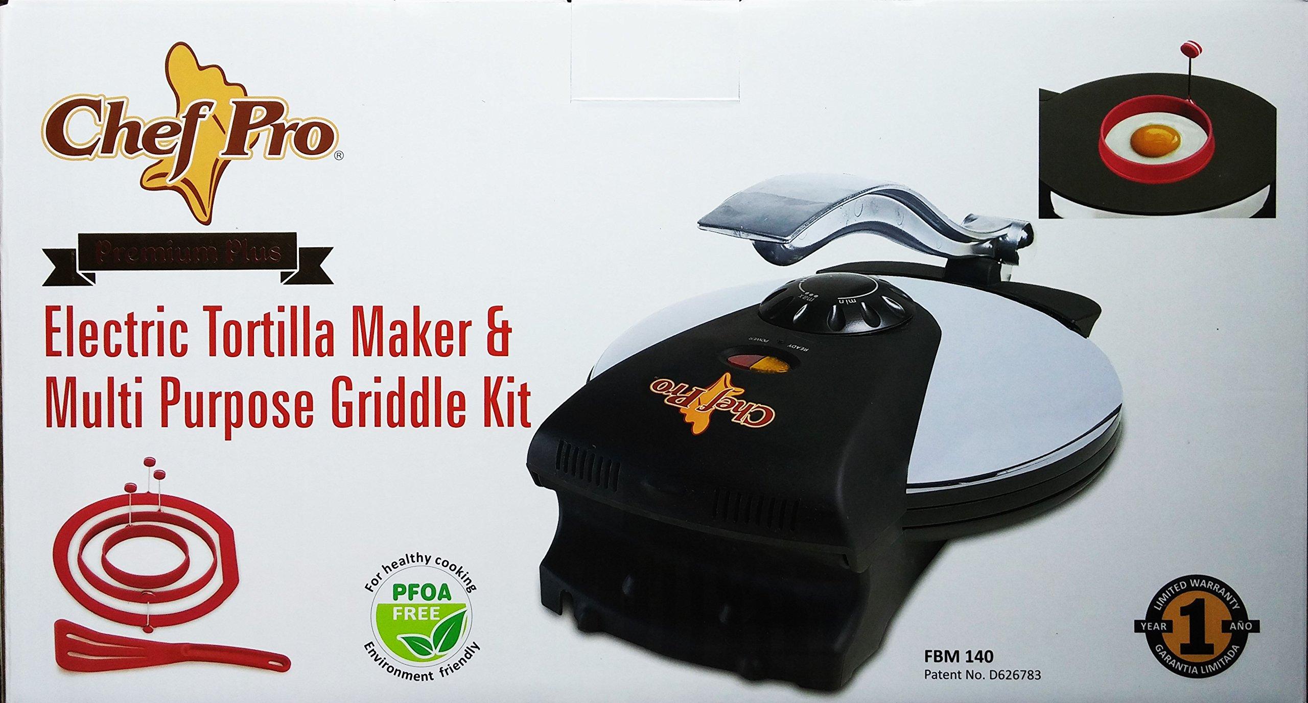 NEW 10'' Chef Pro Electric Tortilla Press