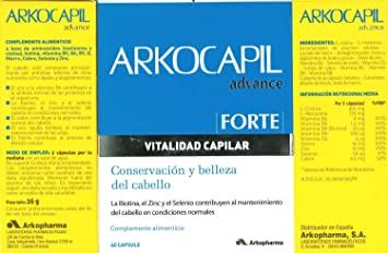 ARKOCAPIL ADVANCE FORTE 60 CÁPSULAS ANTI HAIR LOSS and NAIL ARKOCAPS Xmas Gift Skin