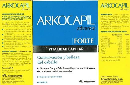 Amazon.com: ARKOCAPIL ADVANCE FORTE 60 CÁPSULAS ANTI HAIR LOSS and NAIL ARKOCAPS Xmas Gift Skin Beauty Gift: Beauty