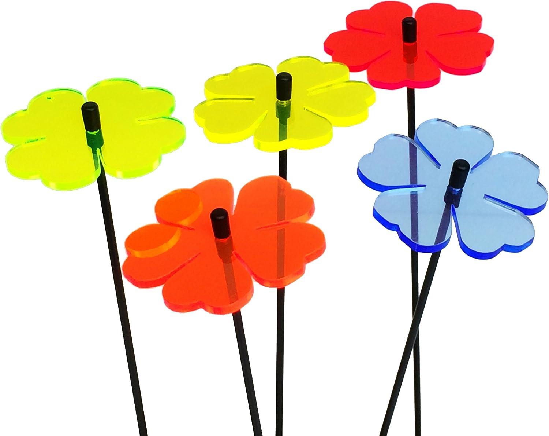 Butterfly colourful fluorescent garden ornament stake light SunCatcher Set of 5