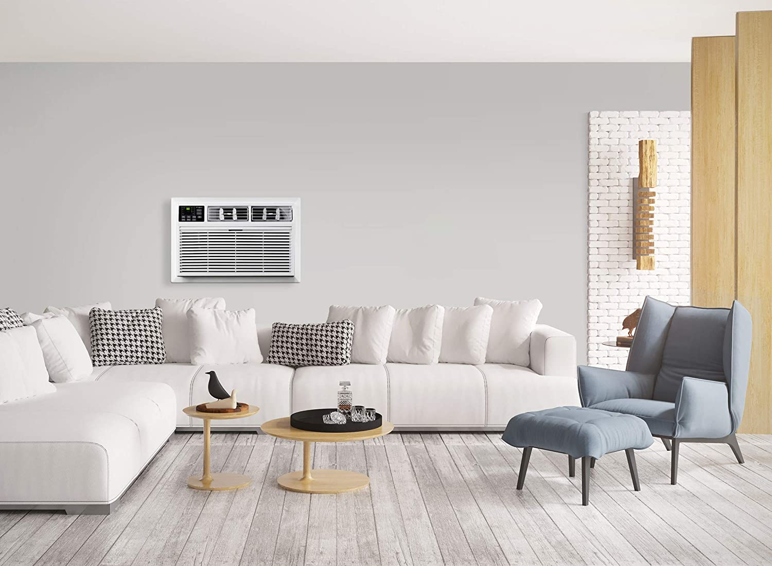 Whirlpool Energy Star 10,000 BTU 115V Through-The-Wall Air Conditioner with Remote Control, White