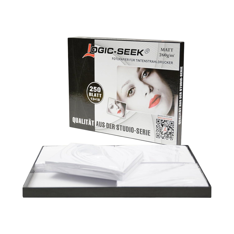 250 Blatt  Logic Seek® Fotopapier 13x18 Matt 250g Tintenstrahldrucker E250M260