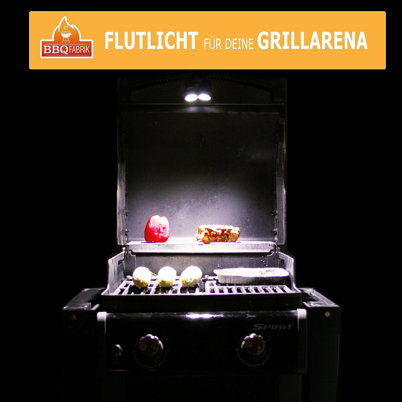 LED BBQ Grill-Lampe 360 Grad schwenkbar Grill-Licht Grill-Leuchte Grill-Beleuchtung Light Beleuchtung Schraub-Befestigung Batterie betrieben Barbecue Gas /& Elektro Grill Zelt Festival Camping