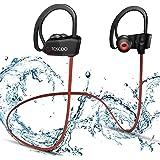 Auricolari Bluetooth Senza Fili - TOSCIDO Cuffie Bluetooth Sport Auricolare Bluetooth 4.1,IPX7 Impermeabile,CVC6.0 Riduzione Rumore Con Microfono per iPhone Xs/Xr/X/8/7Samsung Android - Rosso