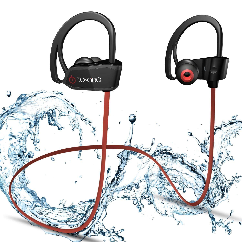 9868b38b057 TOSCiDO Wireless Bluetooth Headphones - X18 Earphones Ipx7 Sweatproof Cvc6.0  Noise Cancelling Stereo 4.1, Sports Headset for iPhone X 8 7 7S 6 6S, ...