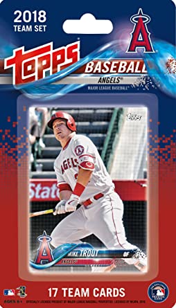 Los Angeles Angels 2019 Topps Factory Sealed Special Edition 17 Card Team Set with Mike Trout and Shohei Otani Rookie Plus 15 Others