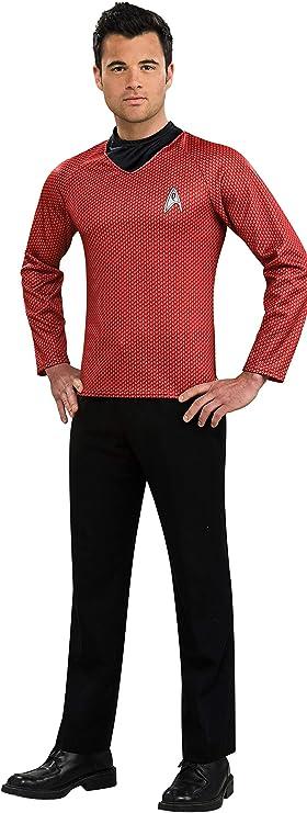 LICENSED STAR TREK SCOTTY RED DELUXE ADULT MENS FANCY DRESS HALLOWEEN COSTUME