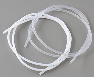 Teflon PTFE Polytetrafluoroethylene for 3D Printer Clear & White 4mm2mm for  1 75mm Filament