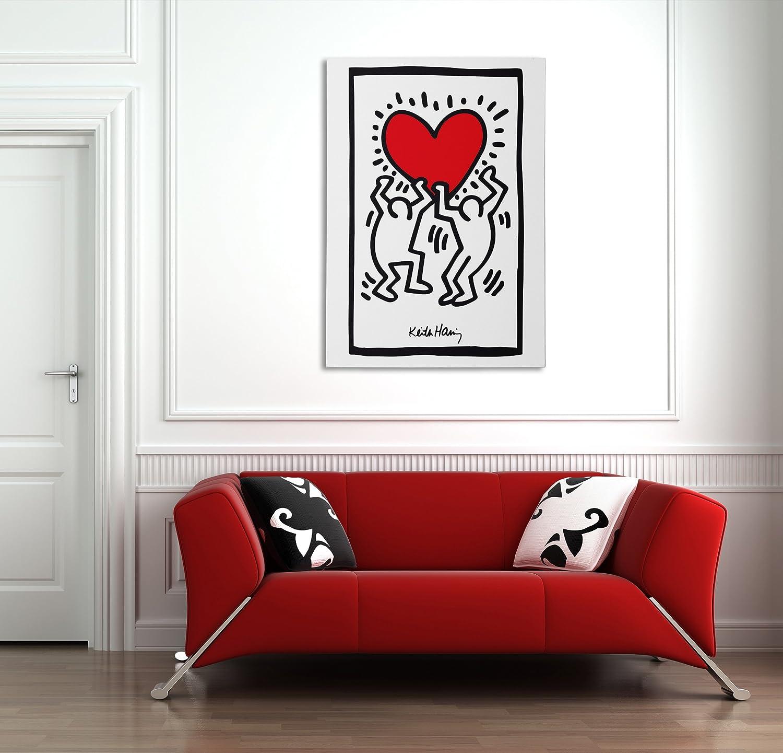 Quadro In Tela Canvas Pronto Da Appendere Lamaglieria Fine Art 20cmx30cm Keith Haring Heart Tele Casa E Cucina Bepco Ee