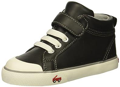 See Kai Run Boys  Peyton Sneaker Black Leather 4 M US Toddler ec731474c