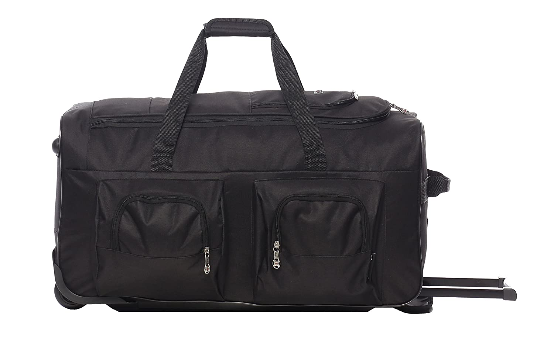 large lightweight wheeled duffle holdall travel bag sports bag 2 year warranty ebay. Black Bedroom Furniture Sets. Home Design Ideas