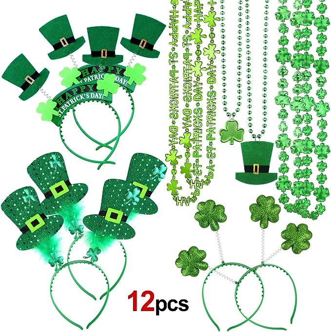 IRELAND GREEN PETAL LEI HAWAIIAN NECKLACE IRISH ST PATRICKS DAY EIRE FANCY DRESS