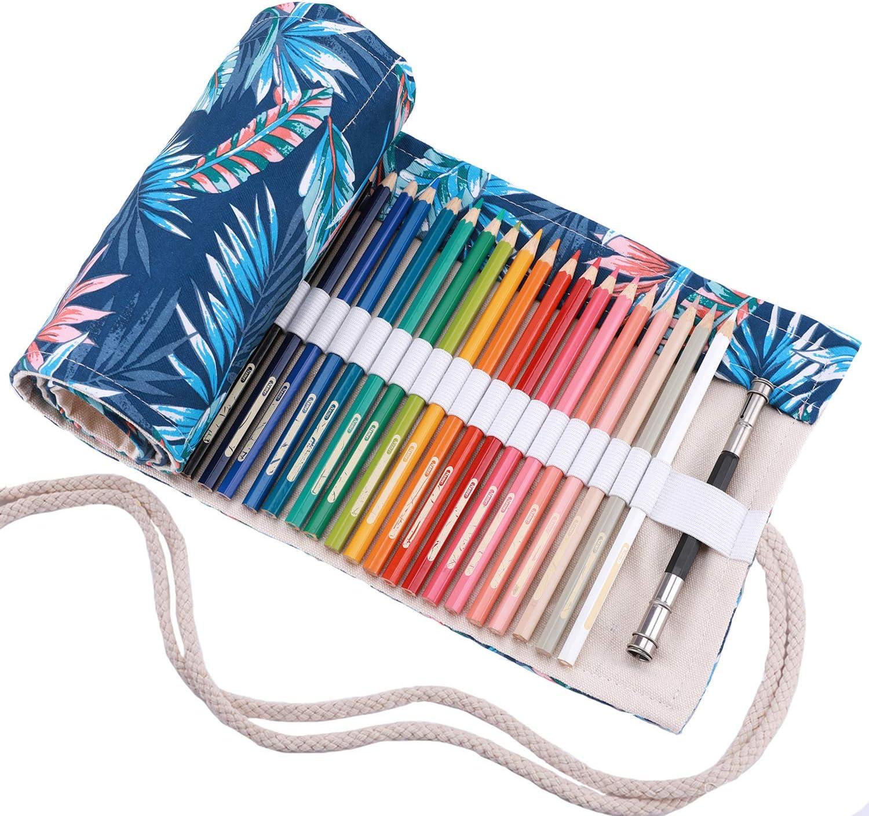 Abaría - Bolso para lápices, Estuche Enrollable para 36 lapices Colores, Bolsa Organizador lápices para Infantil Adulto (No Incluyendo los lápices): Amazon.es: Electrónica