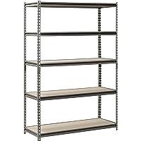 Muscle Rack UR481872PB5P-SV Silver Vein Steel Storage Rack, 5 Adjustable Shelves, 4000-Pounds Capacity, 72-Inch HeightX48-Inch WidthX18-Inch Depth