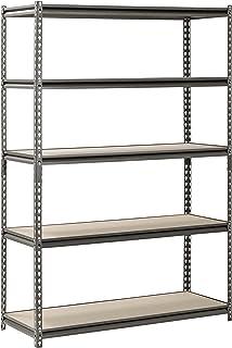 Muscle Rack UR481872PB5P-SV Silver Vein Steel Storage Rack 5 Adjustable Shelves 4000  sc 1 st  Amazon.com & Amazon.com: Edsal URWM184872BK Black Steel Storage Rack 5 ...