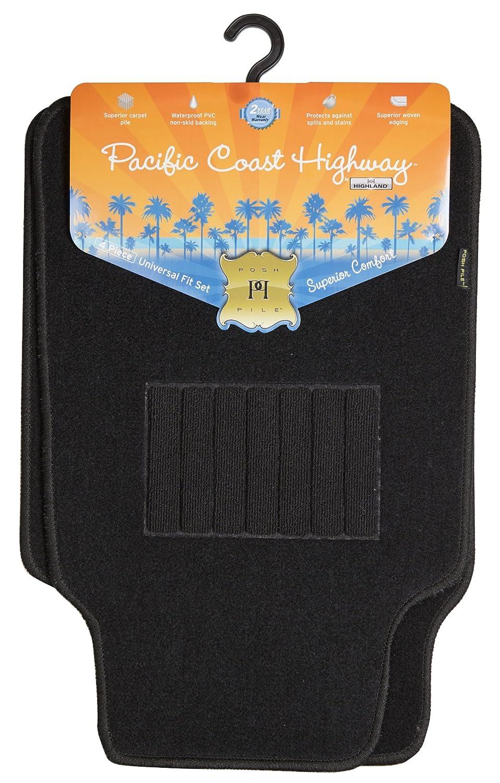 Highland 4460500 Pacific Coast Highway Tan Luxury Carpet Floor Mat 4 Piece