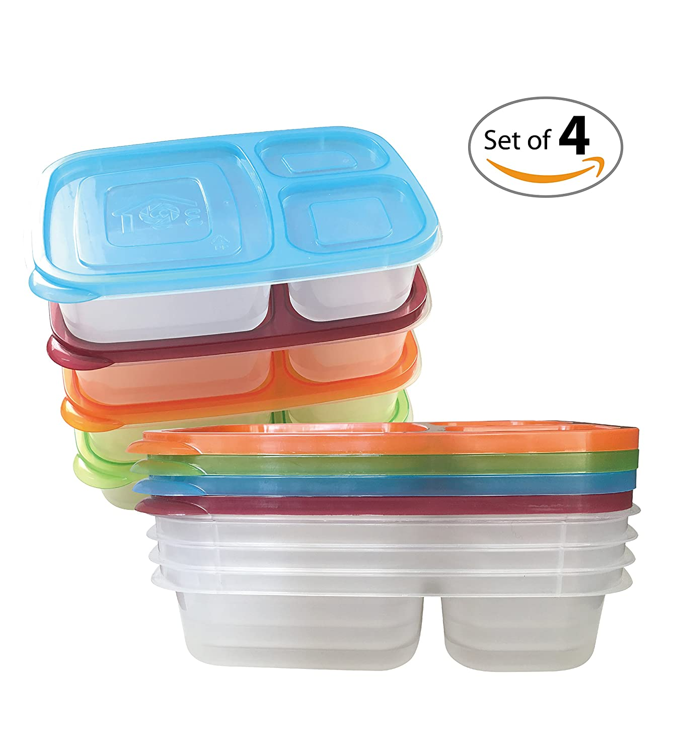 ewei 39 s homewares bento lunch box food storage containers boxes divided plates wi ebay. Black Bedroom Furniture Sets. Home Design Ideas