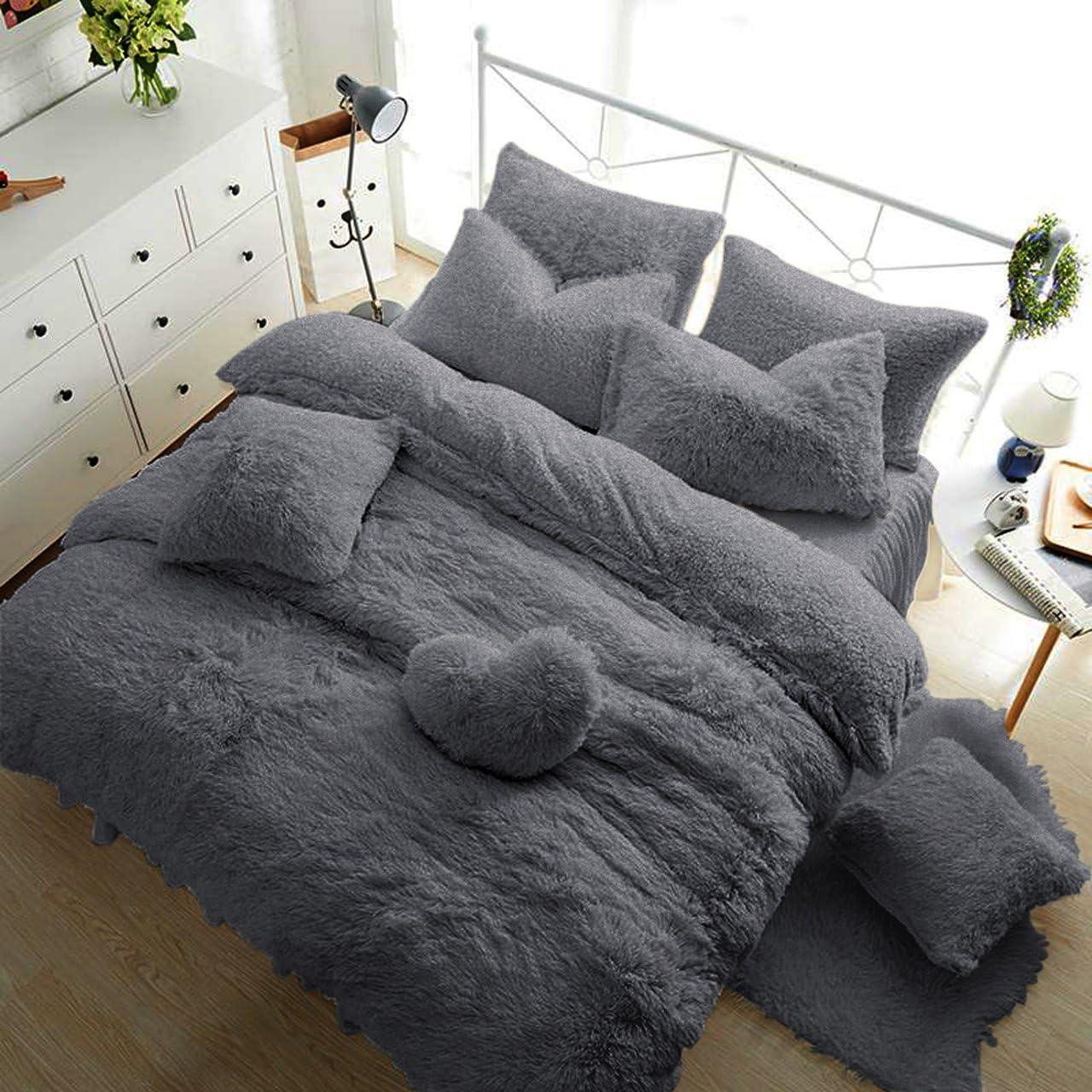 Teddy Fleece Duvet Cover with Pillow