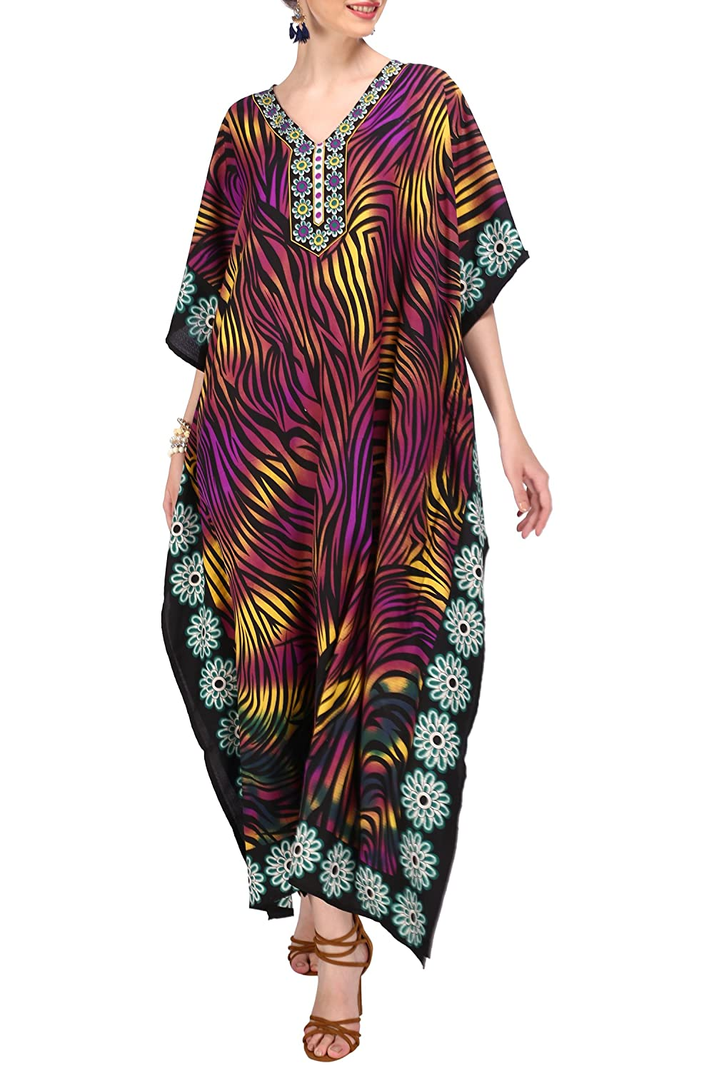 Kaftan Tunic Kimono Dress Ladies Summer Women Evening Maxi Party Plus Size 6-24