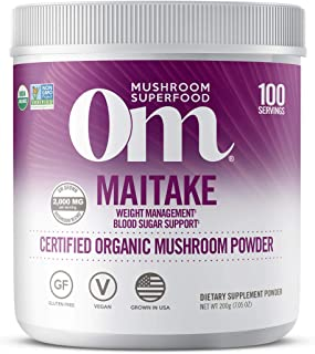 product image for Om Organic Mushroom Superfood Powder, Maitake, Weight Loss & Blood Sugar Support Supplement 7.05 Ounce (Pack of 1)