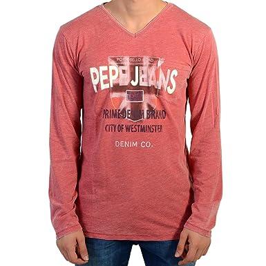 site réputé db9bc c7b7c Pepe Jeans T-Shirt Enfant Jordan PB501423 Berry 280 Rouge ...