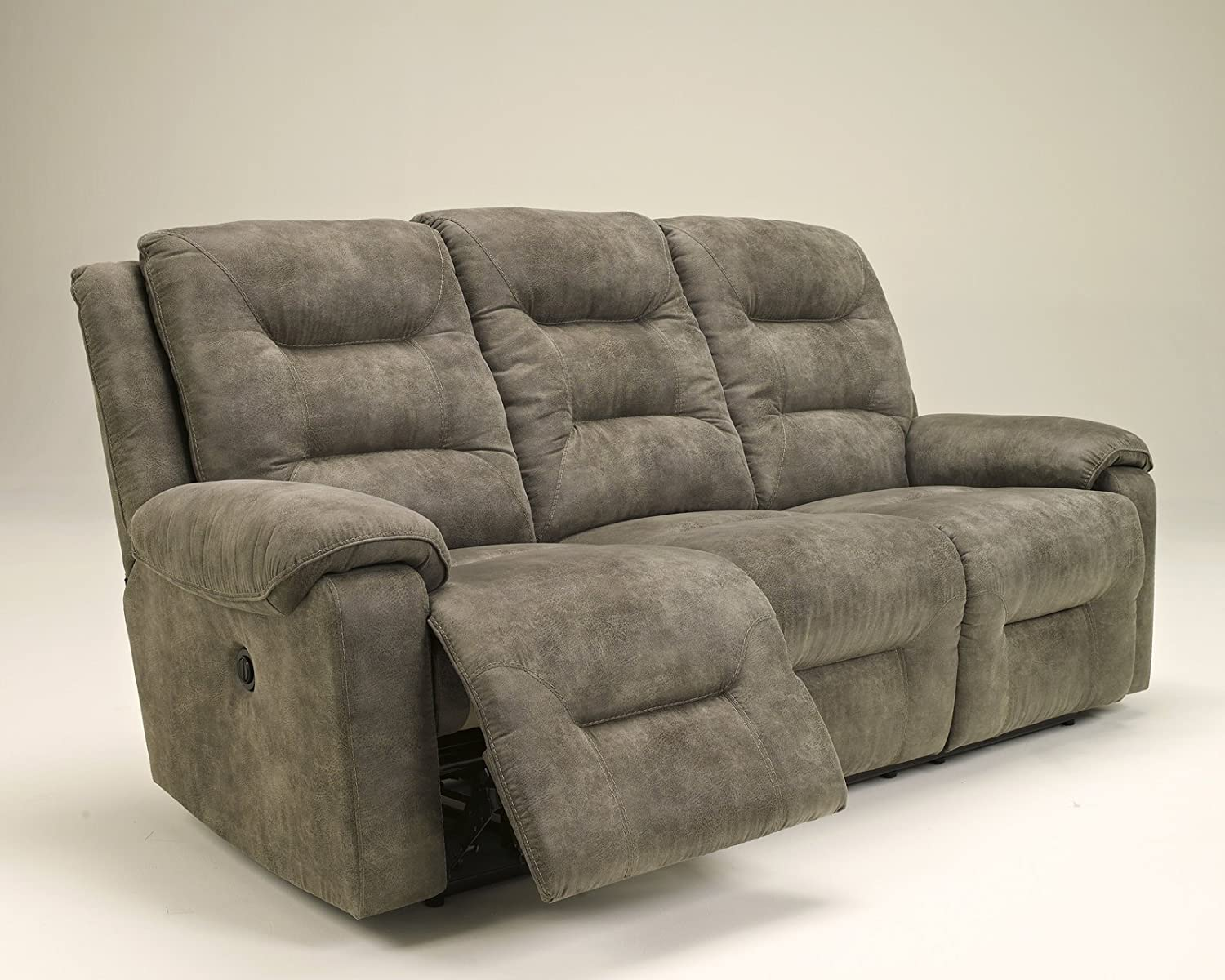 Amazon.com Ashley Furniture Signature Design - Rotation Recliner Sofa - Power Reclining Couch - Smoke Gray Brown Kitchen u0026 Dining & Amazon.com: Ashley Furniture Signature Design - Rotation Recliner ... islam-shia.org