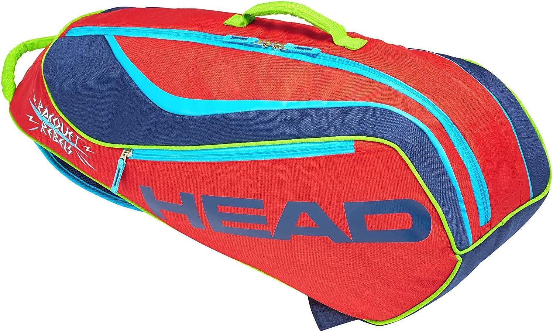 Amazon Com Head Novak Djokovic Junior Combi 6 Racquet Tennis Bag Red Navy Sports Outdoors