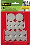 Scotch Mounting, Fastening & Surface Protection SP842-NA Scotch Brand 3M, for protecting hardwood floors, Beige, Multi-Pack, 16-3/4 in, 16-1 in, 4-1.5 in, Round, 36 Total Felt Pads
