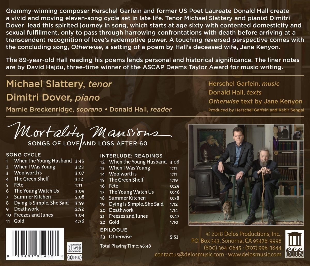 Slattery Breckenridge Dover Hall;Michael Slattery, Herschel Garfein, __ -  Garfein: Mortality Mansions - Songs of Love and Loss After 60 - Amazon.com  Music