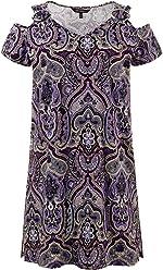 Ulla Popken Femme Grandes Tailles Robe de soirée Grande Taille Vetement Femme Pas Cher Fashion Sexy Printemps Robe Cocktail Vintage Robe Longue Mariage 712788