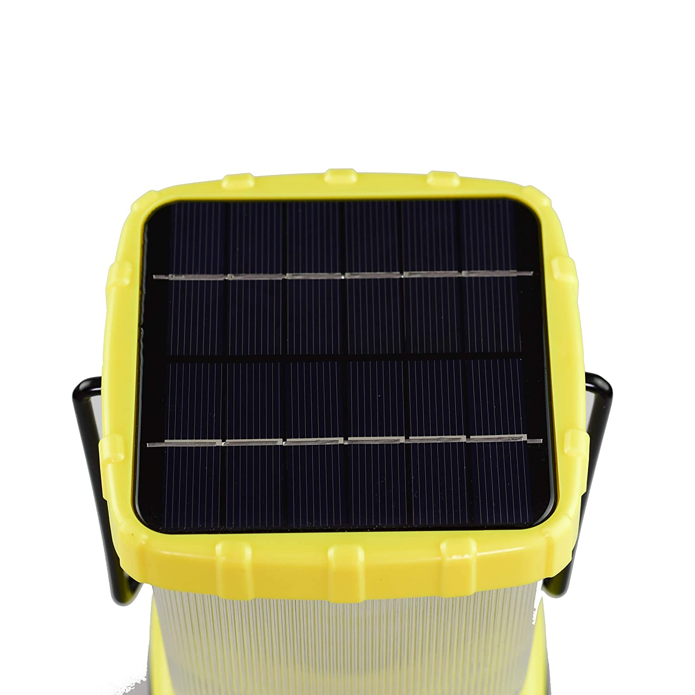 Storm Charge Via USB or Sun 600 Lumen Solar Emergency Lantern Battery Power Bank Phone Charger Blazin/' Bison Camping Power Outage Lanterns Blazin Solar Rechargeable Lantern