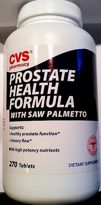 Amazon com: CVS Prostate Health Formula with Saw Palmeeto 270