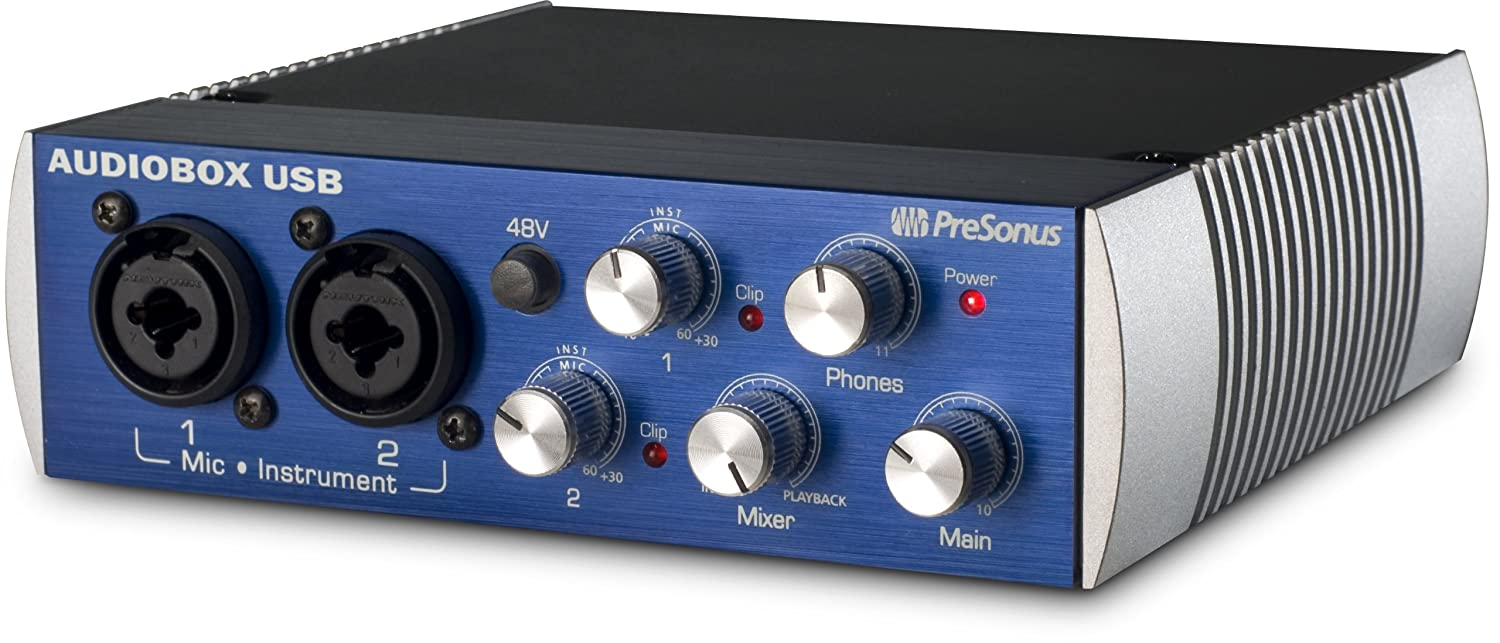 Presonus Audiobox Usb 2x2 Audio Interface Includes The Preamplifier With Dual Recording Studio One Musical Instruments