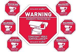 Security camera sign plus 6 security camera decals Outdoor CCTV Sign & Decals Set!