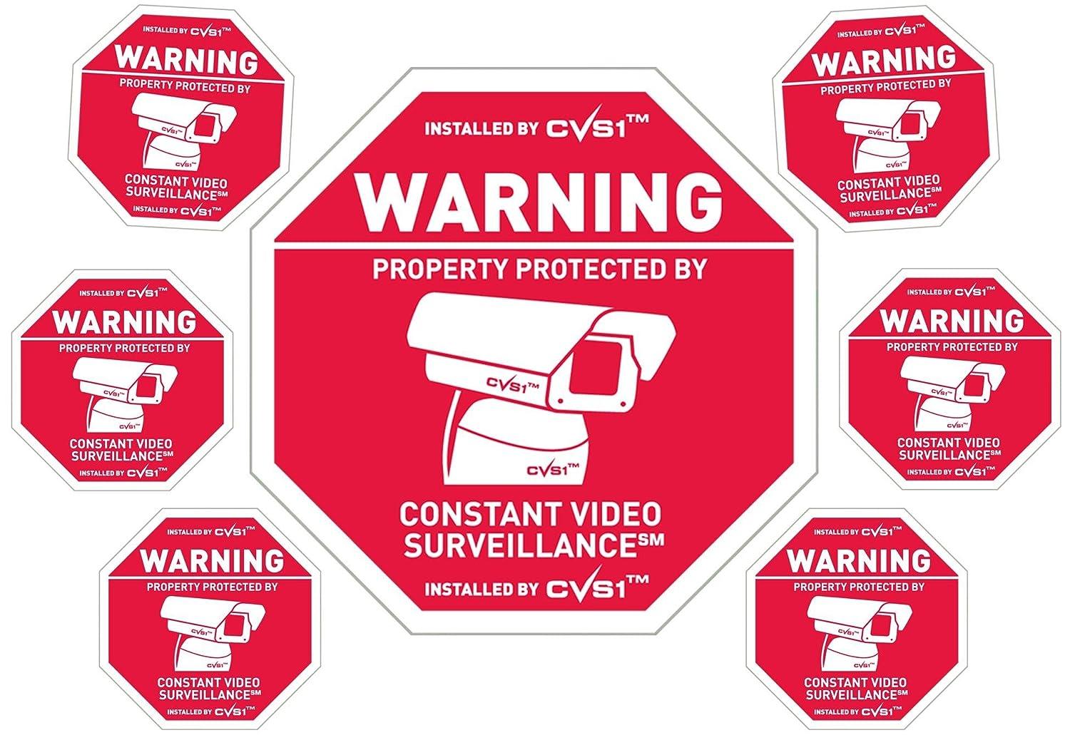 Amazon.com: Cámara de seguridad Señal de Plus de 6 ...