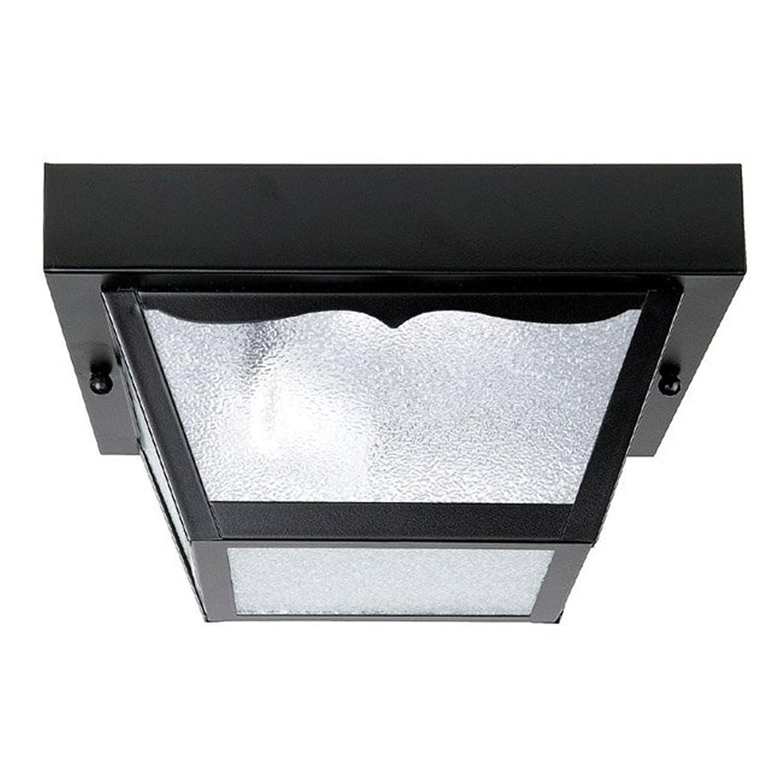 Capital Lighting 9937BK 1 Light Carport Steel Exterior Flush Mount, Black  Finish   Close To Ceiling Light Fixtures   Amazon.com