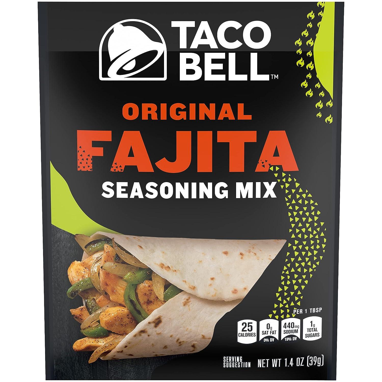 Taco Bell Original Fajita Seasoning Mix (1.4 oz Packets, Pack of 24)