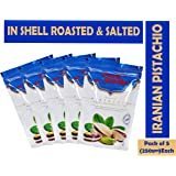 Food Studio Iranian Pistachios (Roasted and Salted) Pack of 5 - 250gm Each