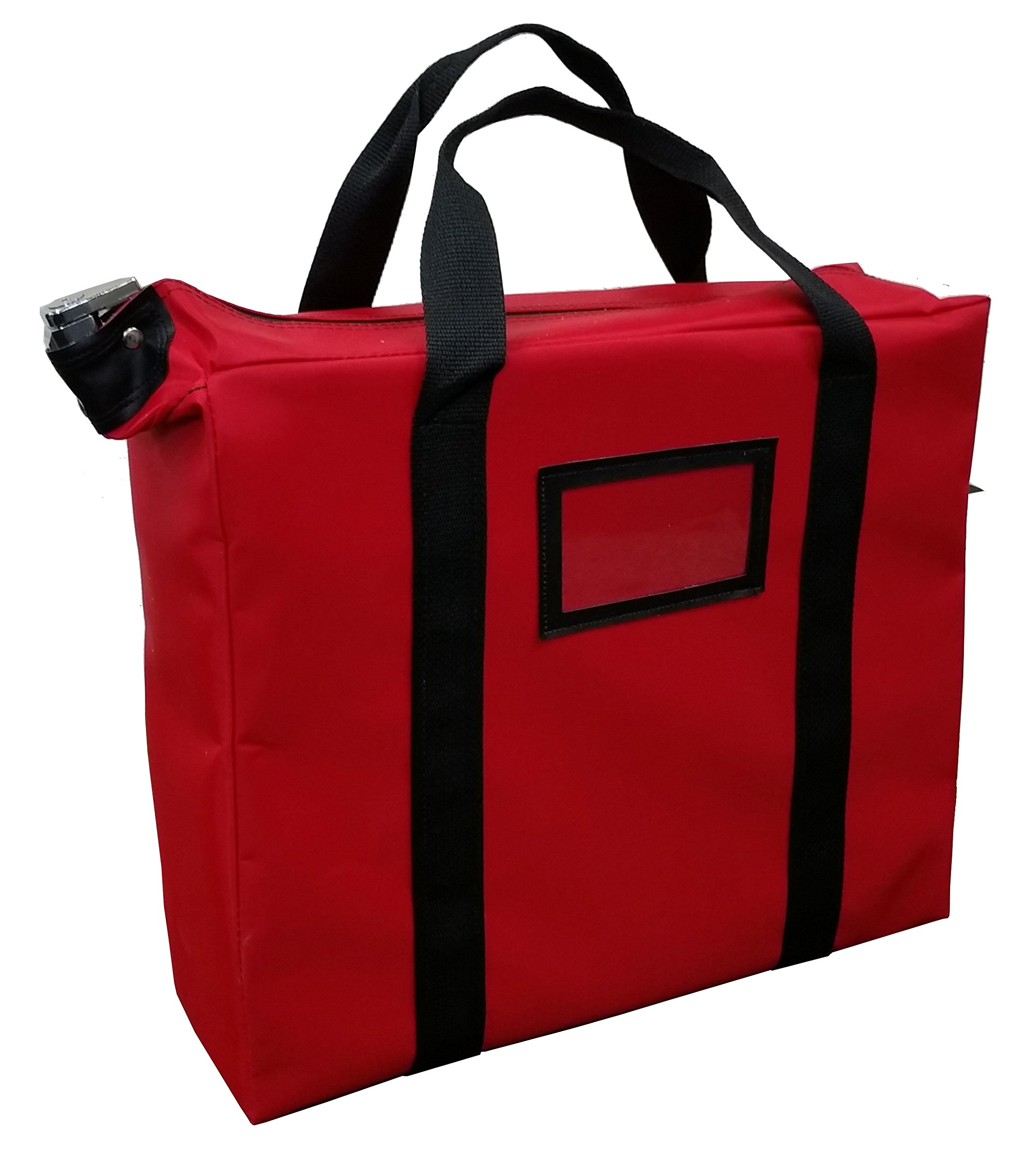 Briefcase Style Locking Document Bag (Red)