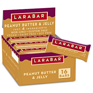 Larabar Fruit and Nut Bar, Peanut Butter and Jelly, Gluten Free, Vegan, 16 ct