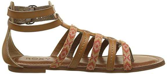 Emilia, Sandalias de Gladiador para Mujer, Marrón (Tan), 38 EU Roxy
