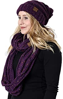 ec077e01a4a37 Funky Junque Oversized Slouchy Beanie Bundled with Matching Infinity Scarf