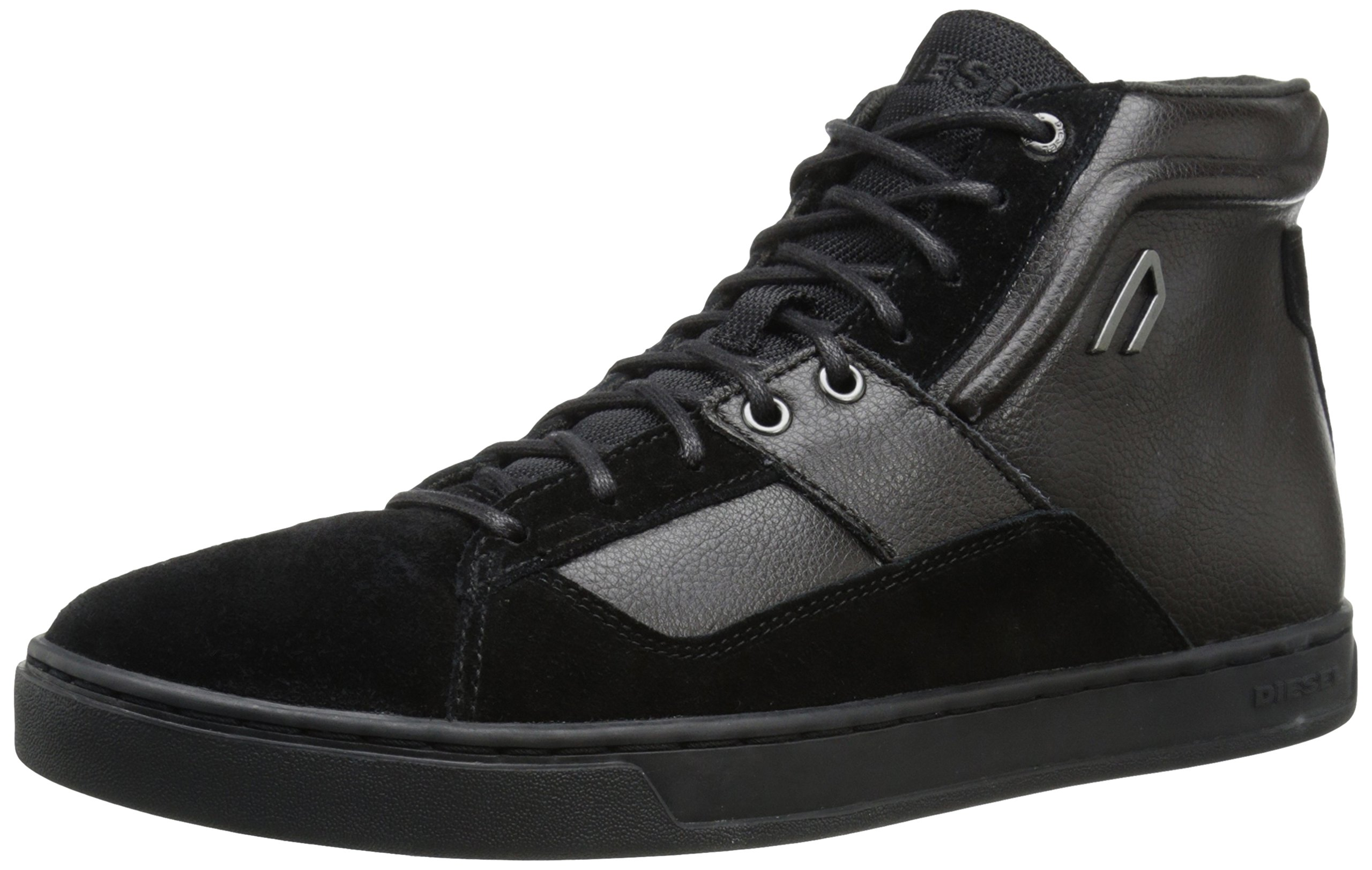 Diesel Men's Primmstal E-Prime Mid Fashion Sneaker, Black, 8.5 M US
