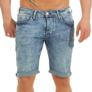 5a9564bbe2db64 M.O.D Herren Jeans Shorts Kurze Hose Thomas Comfort Knielang: Amazon.de:  Bekleidung