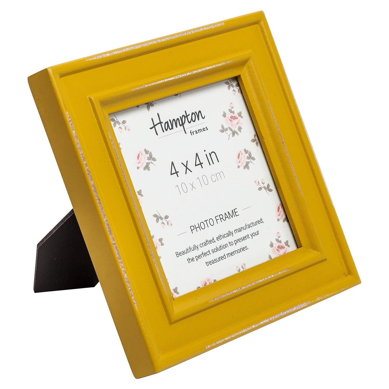 Hampton Frames Paloma quadratisch Bilderrahmen, Holz,, senf gelb, 14 ...